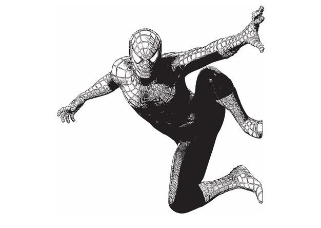 黑白插画风格蜘蛛侠794870png图片素材 人物素材-第1张