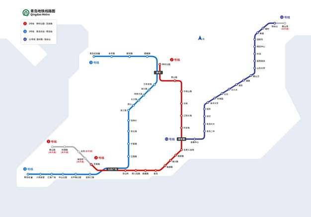 青岛地铁线路图图片素材