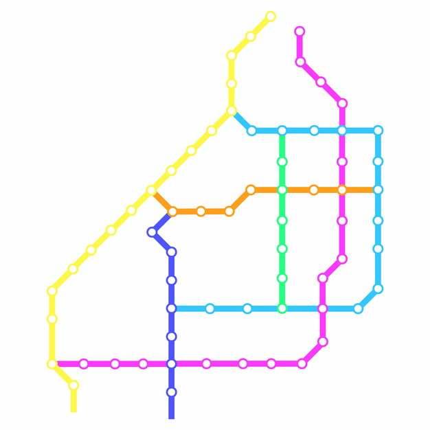 彩色线条嘉兴地铁线路规划矢量图片773590