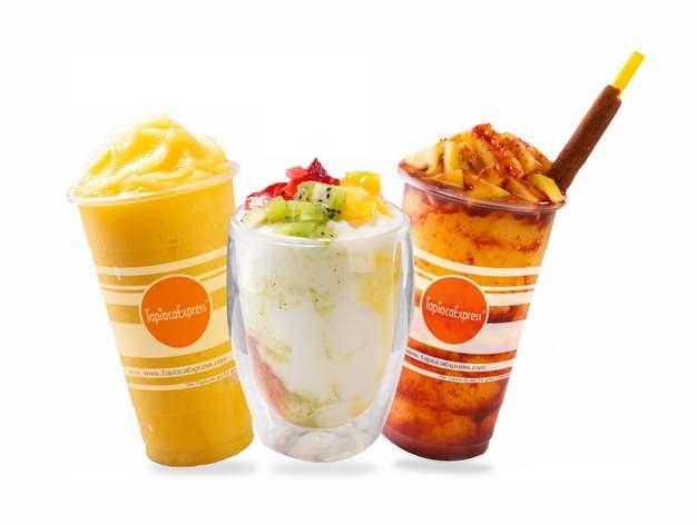 三杯水果冰沙奶茶323650png图片素材