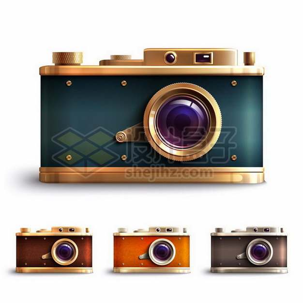 逼真的4种颜色复古照相机939466png矢量图片素材