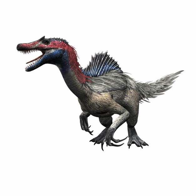棘龙带毛恐龙远古生物447308png免抠图片素材