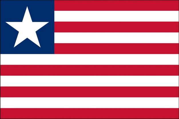 标准版利比里亚国旗图片素材