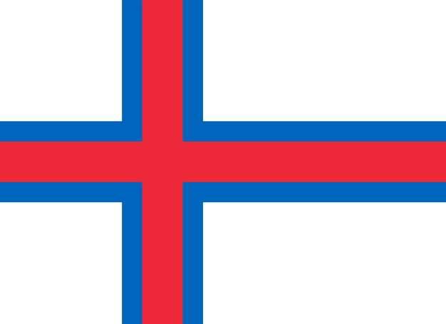 标准版法罗群岛国旗图片素材