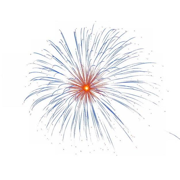 绽放的烟花礼花效果693500png图片素材 效果元素-第1张