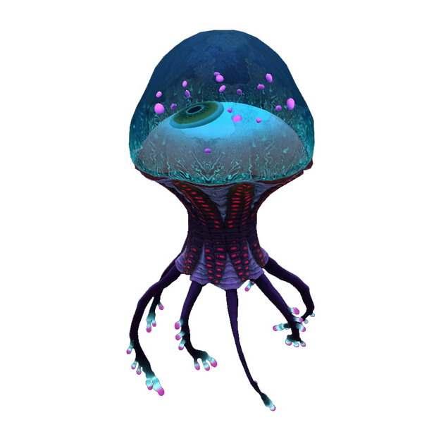 卡通水母状外星人215812png图片素材