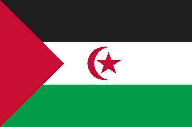 标准版西撒哈拉国旗图片素材