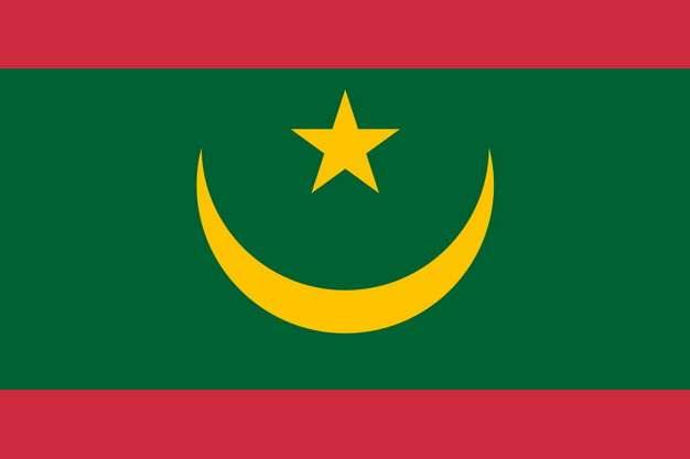 标准版毛里塔尼亚国旗图片素材