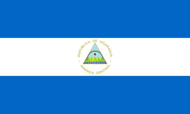标准版尼加拉瓜国旗图片素材