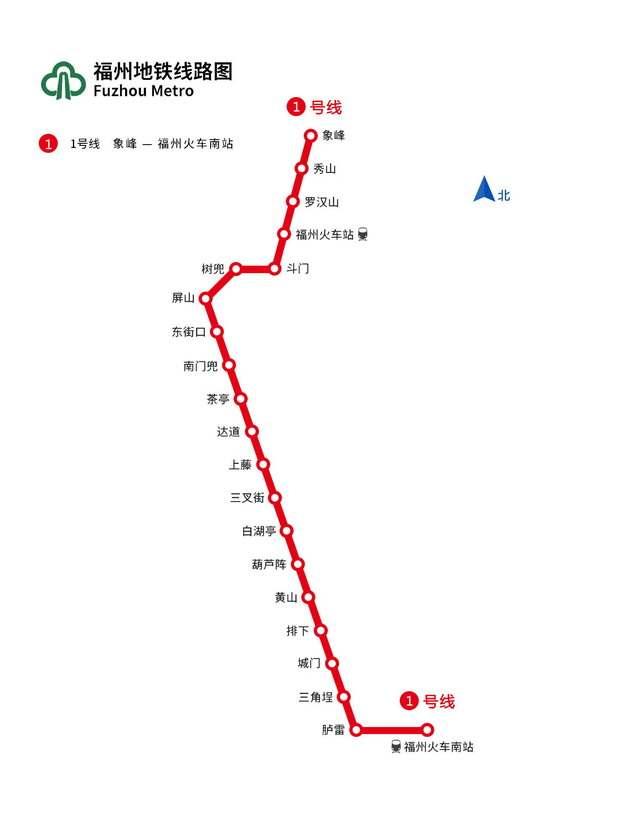 福州地铁线路图图片素材