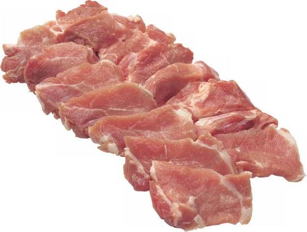 切成小块的猪肉278586png图片素材