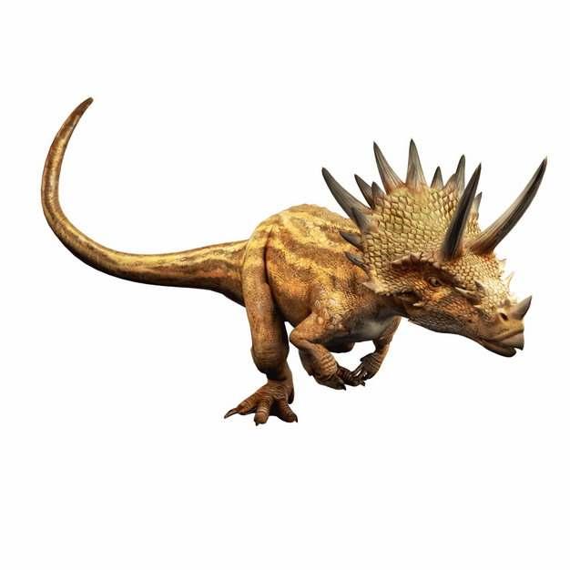 奔跑的三角龙恐龙779202png免抠图片素材