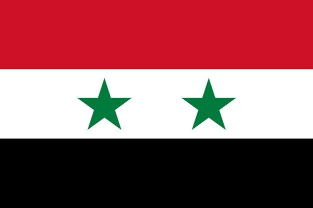 标准版叙利亚国旗图片素材 科学地理-第1张