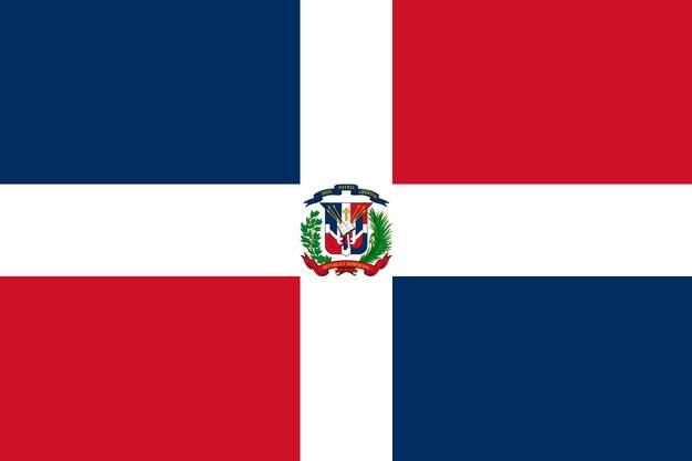 标准版多米尼加国旗图片素材