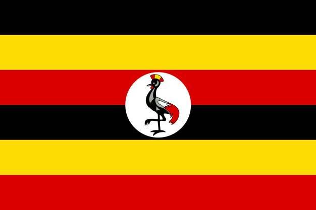 标准版乌干达国旗图片素材