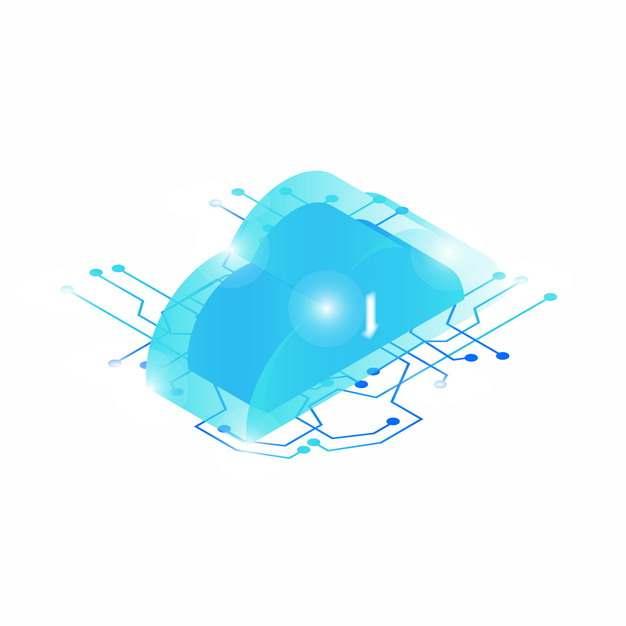 云计算蓝色科技电路709781png矢量图片素材