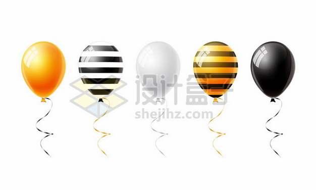 5种颜色的彩色气球207811png矢量图片素材