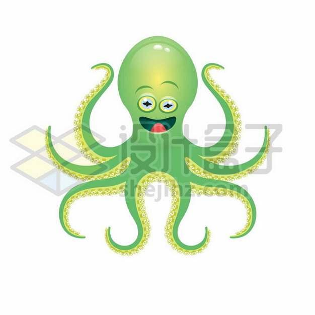 绿色的卡通章鱼778701png矢量图片素材