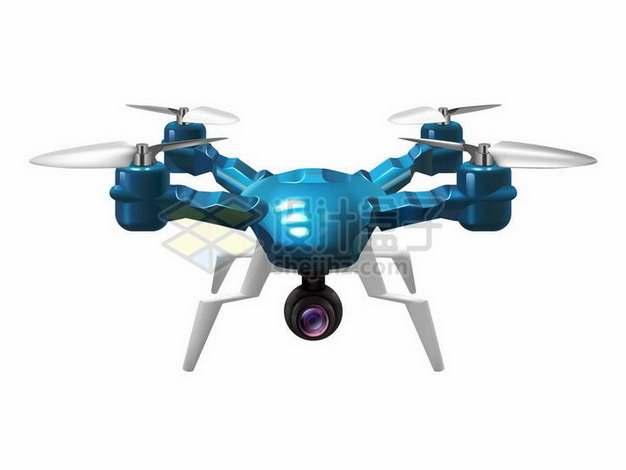 逼真的蓝色四轴无人机210981png矢量图片素材