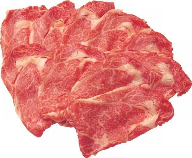 切开的雪花牛肉和牛切片108012png图片素材