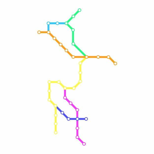 彩色线条洛阳地铁线路规划矢量图片562922
