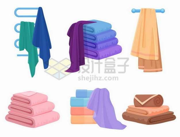各种折叠整齐的毛巾305276png矢量图片素材