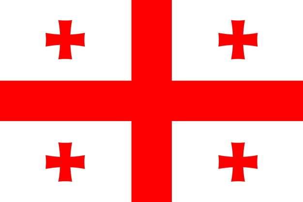 标准版格鲁吉亚国旗图片素材