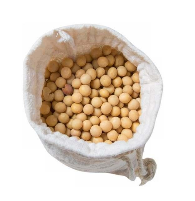 布袋子中晒干了的黄豆大豆320365png图片免抠素材