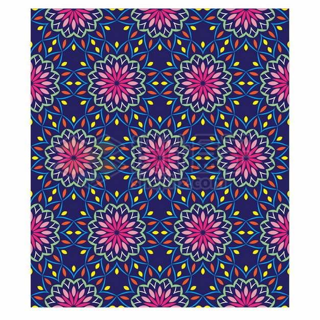 复古彩色花纹贴图355306png矢量图片素材