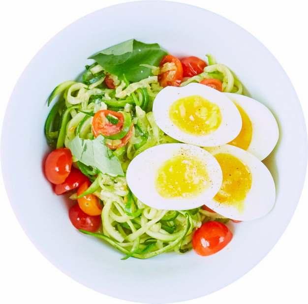 加了鸡蛋的黄瓜圣女果蔬菜色拉489274png图片素材
