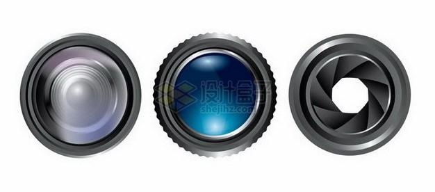 3款逼真的相机镜头218271png矢量图片素材 IT科技-第1张