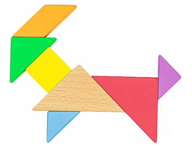 木头七巧板拼图画作品707916png图片素材