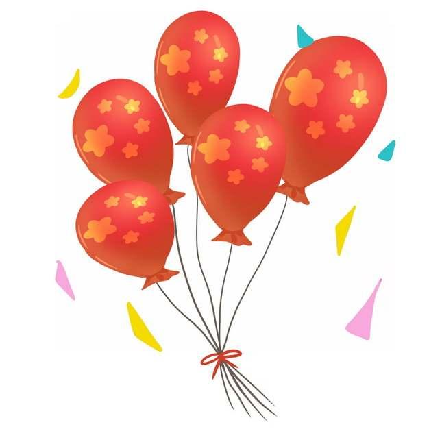 印有五星红旗图案的红色气球国庆节683889png免抠图片素材