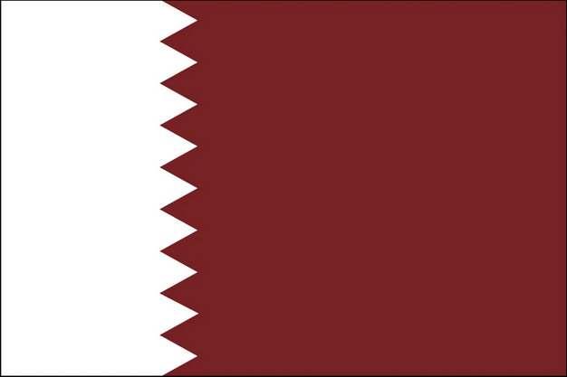 标准版卡塔尔国旗图片素材