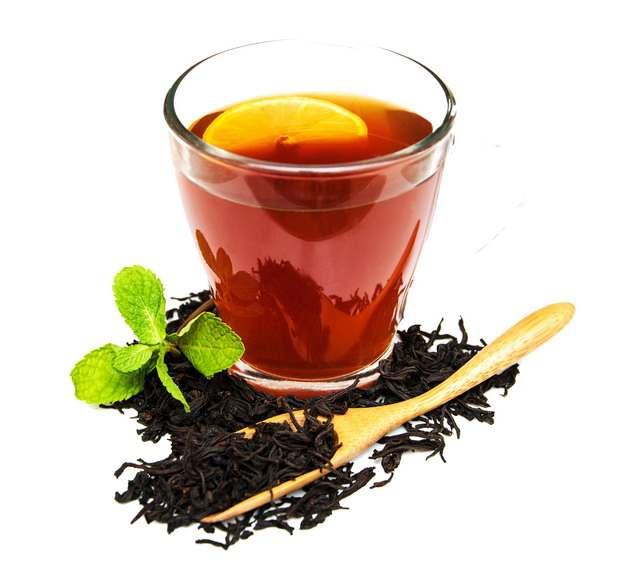 一杯红茶和茶叶881667png图片素材