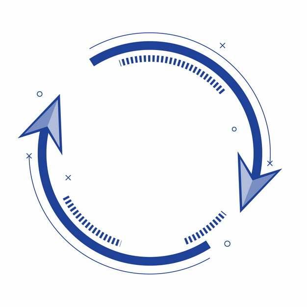 蓝色循环旋转箭头742396png矢量图片素材