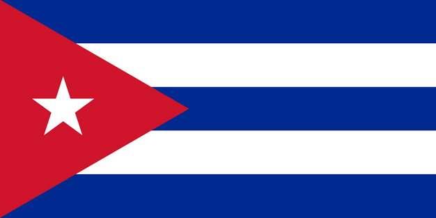 标准版古巴国旗图片素材