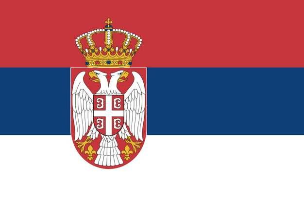 标准版塞尔维亚国旗图片素材
