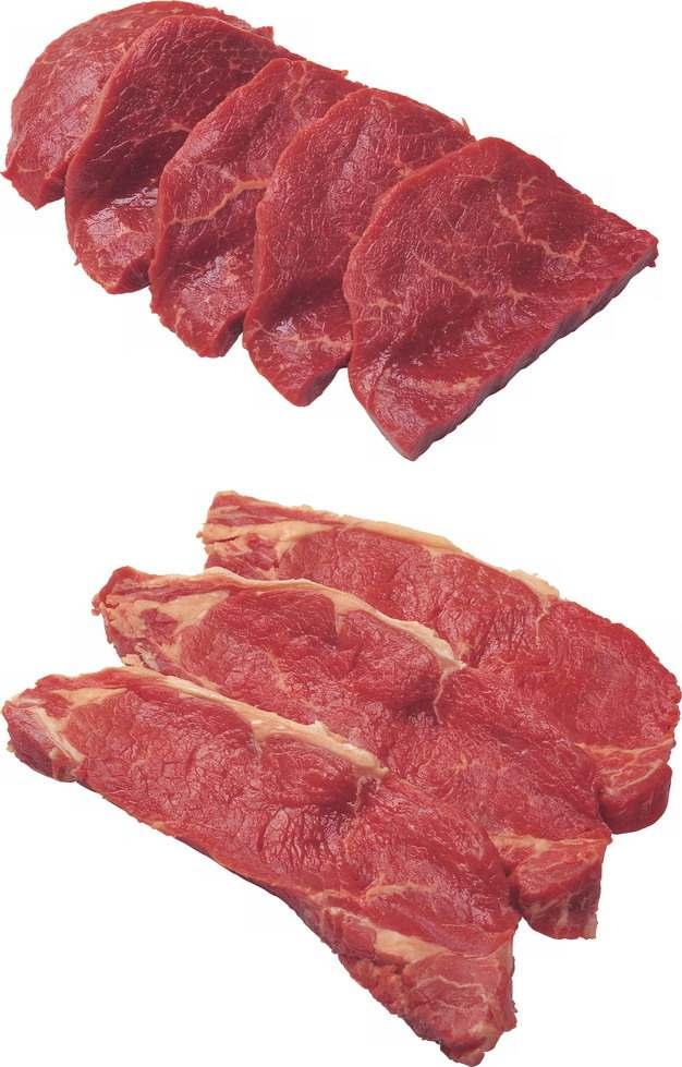 两种切块的牛扒牛排108904png图片素材
