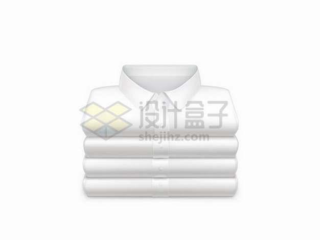 折叠整齐的白色衬衫152311png矢量图片素材