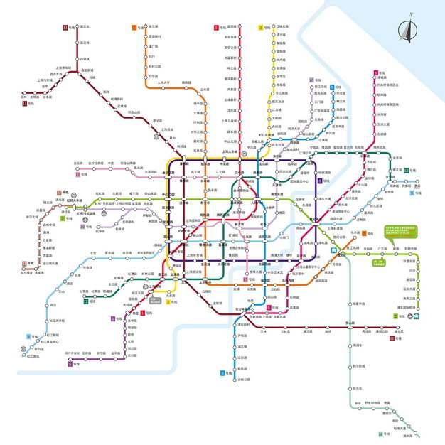 上海地铁线路图图片素材