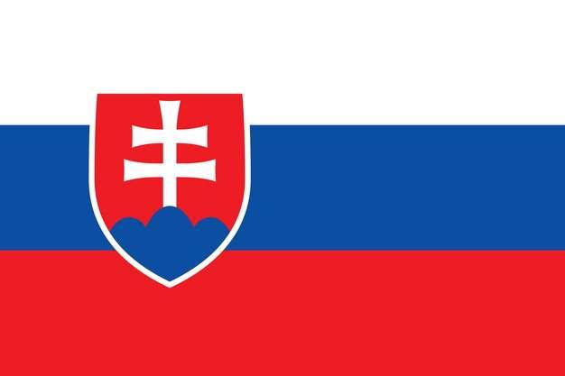 标准版斯洛伐克国旗图片素材