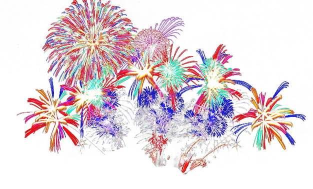 五彩斑斓的烟花礼花效果298071png图片素材