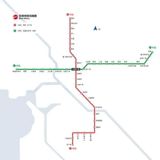 无锡地铁线路图图片素材