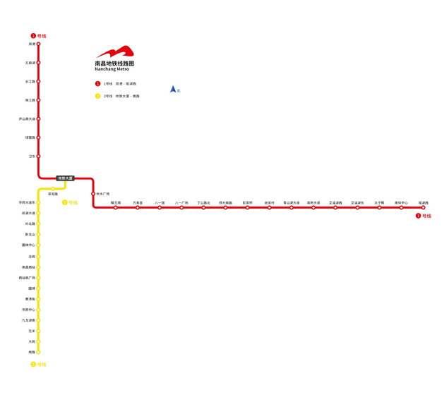 南昌地铁线路图图片素材