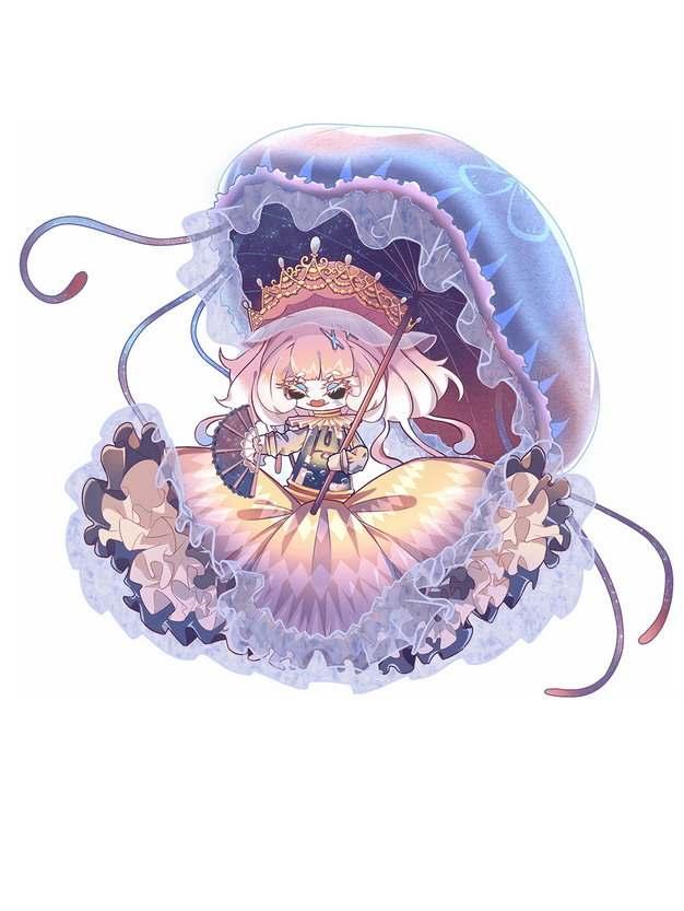 卡通水母小仙女138842png图片素材