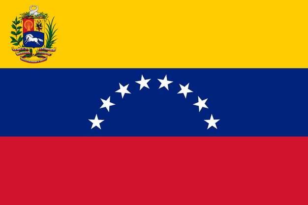标准版委内瑞拉国旗图片素材