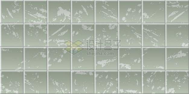 斑驳的绿色方块方格瓷砖贴图641533png矢量图片素材