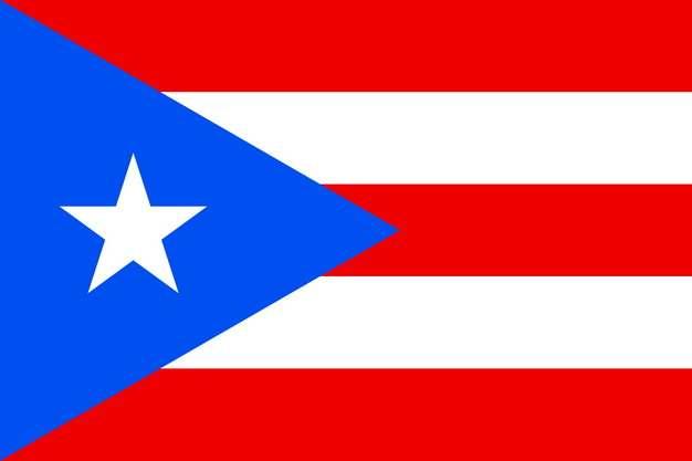 标准版波多黎各国旗图片素材