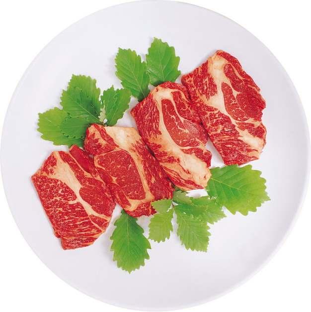 盘中的雪花嫩牛肉和牛270252png图片素材